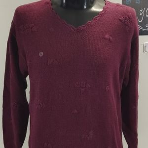 Northern Reflections Burgundy Sweater